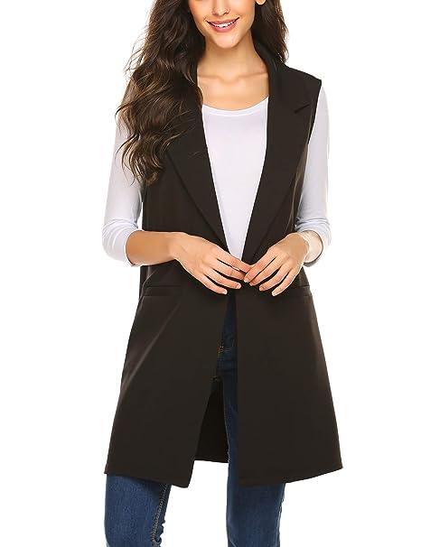 Amazon.com: Meaneor chaqueta estilo blazer tipo trapo, sin ...