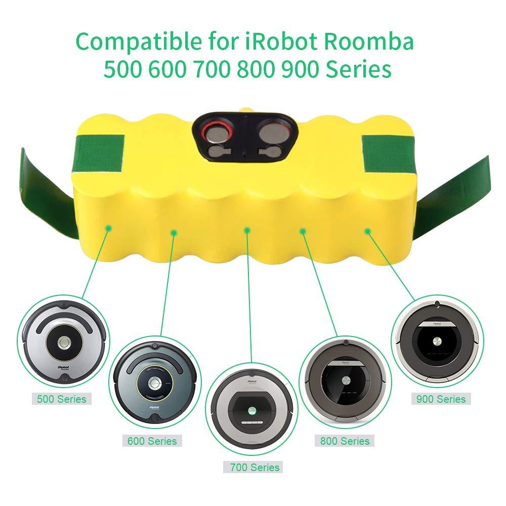 600 700 et 800 510 530 535 540 550 560 563 570 580 600 610 700 760 770 780 800 870 880 900 Powayup 14.4V 3500mAh Ni-MH APS Batterie de Remplacement pour iRobot Roomba 500