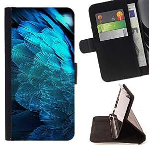 BullDog Case - FOR/LG Nexus 5 D820 D821 / - / feathers blue light angel wings spiritual bird /- Monedero de cuero de la PU Llevar cubierta de la caja con el ID Credit Card Slots Flip funda de cuer