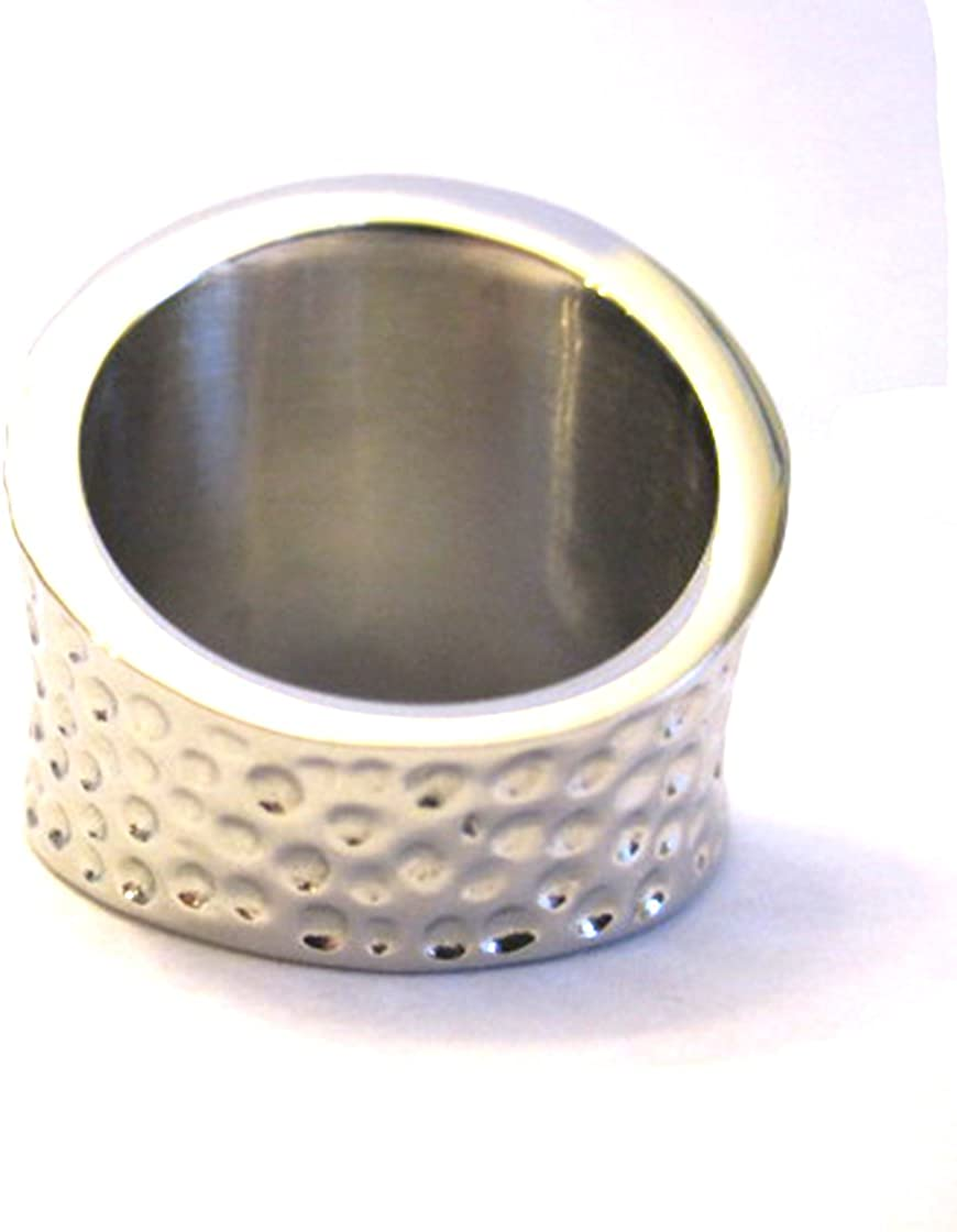 Authentic Stainless Steel White Ring Size 8