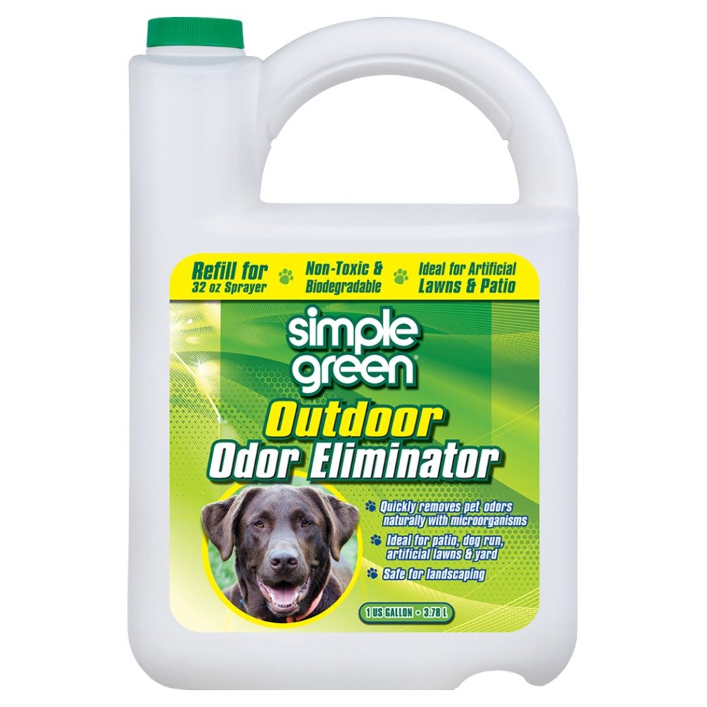 1 gal Simple Green Outdoor Odor Eliminator for Pets, Dogs, 1 Gallon Refill Non-Toxic, Ideal for Artificial Lawns & Patio