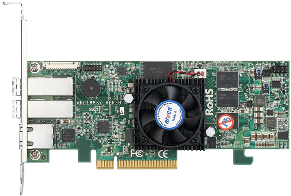 Areca 1883X SAS 12G dual core RAID controller by Areca