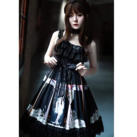 QAQBDBCKL Vestidos De Lolita Gótica Falda Vestido ...