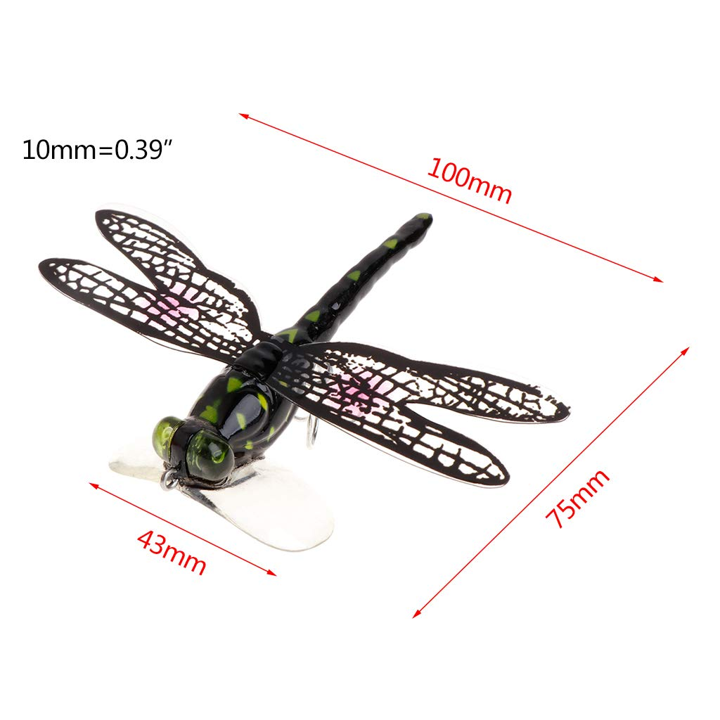Topwater  Dragonfly Fly Fishing Lure Flies Insect Bionic Bait Treble Hooks