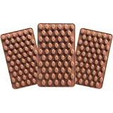 Inn Diary Mini Coffee Beans Chocolate Mold,Silicone molds,Small Jelly Bean,Pastry,Candy,Fondant Molds (3 Qty)