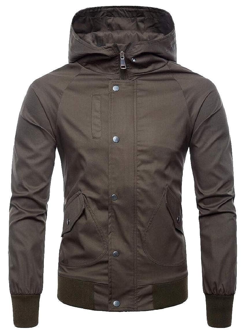 omniscient Mens Winter Outdoor Down Puffer Coats Thicken Zip-Up Coat Outwears Hooded