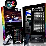 10pc Aura 3-into-1 Motorcycle LED Double Row Light Strip Body Kit | Multi-Color Accent w/Switch for Street-Sport