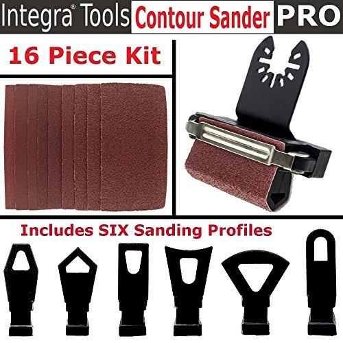 Contour Tool (INTEGRA Tools Multitool Contour Sanding Accessory Set with 6 Unique Profile Shapes)