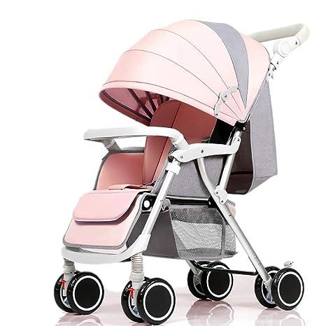 Guo@ Cochecito de bebé, carro infantil ligero plegable ...