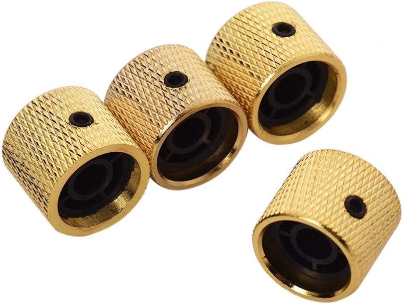 Muslady 4 piezas Tono de Volumen Perilla de Control Metal con Llave Hexagonal Interior para Bajo de Guitarra El/éctrica