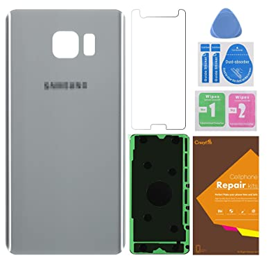 Amazon.com: Rear Back Glass Cover for galaxy note 5,Back Glass Cover Back Battery Door Pre-Installed Adhesive Replacement for Samsung Galaxy Note 5 N9200 ...