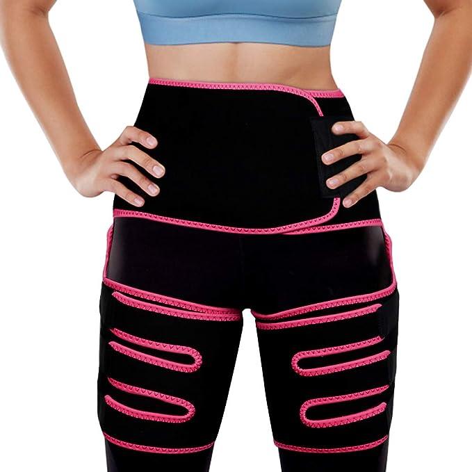 3-in-1 High Waist Trainer Thigh Trimmer Fitness Weight Butt Lifter Slimming Support Belt Hip Enhancer Shapewear Thigh Trimmers for Women