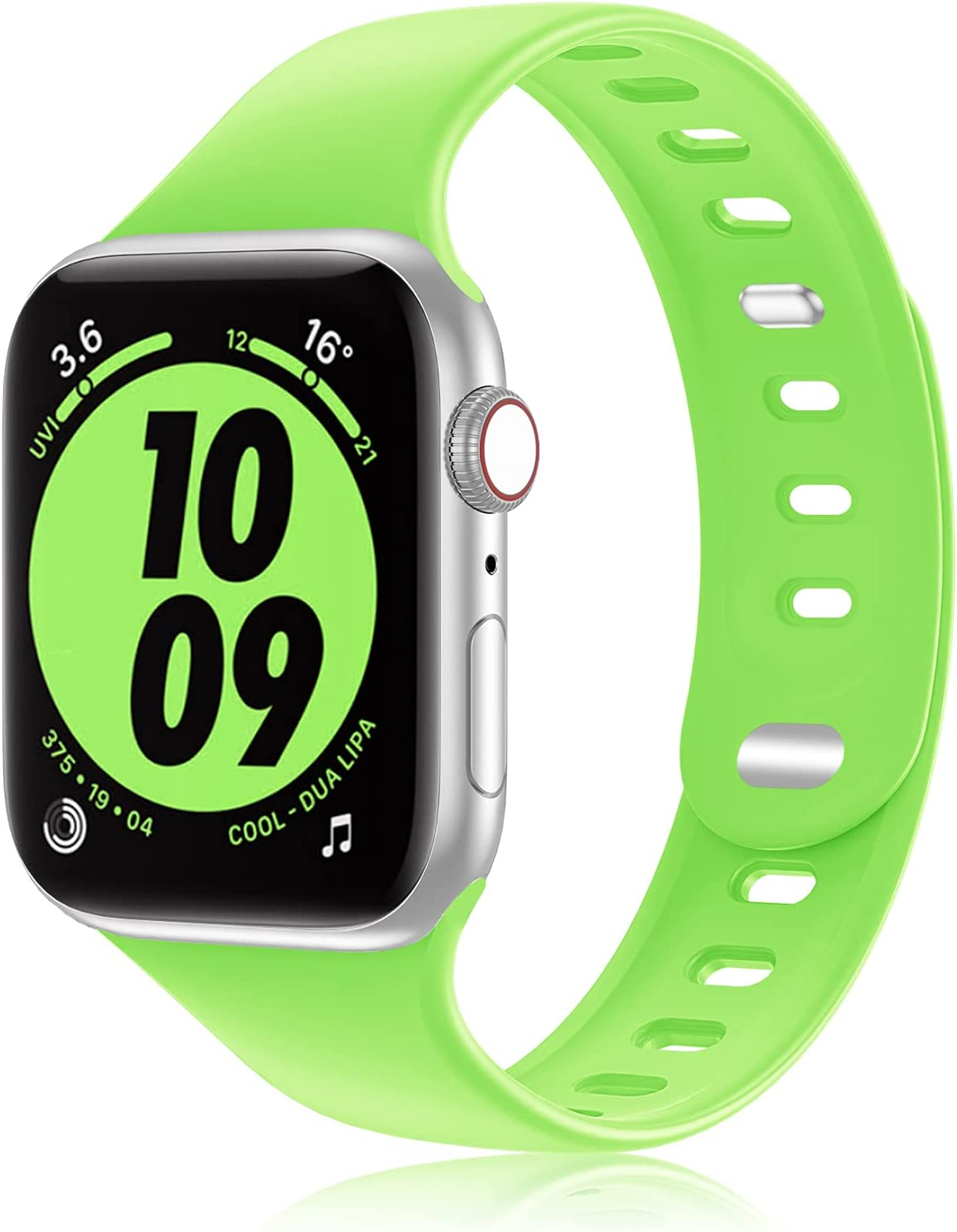 iWabcertoo Sport Silicone Band Compatible with Apple Watch Band 38MM 40MM 42MM 44MM Women and Men,Soft Silicone Replacement Strap Band for iWatch Series 6 5 4 3 2 1 SE
