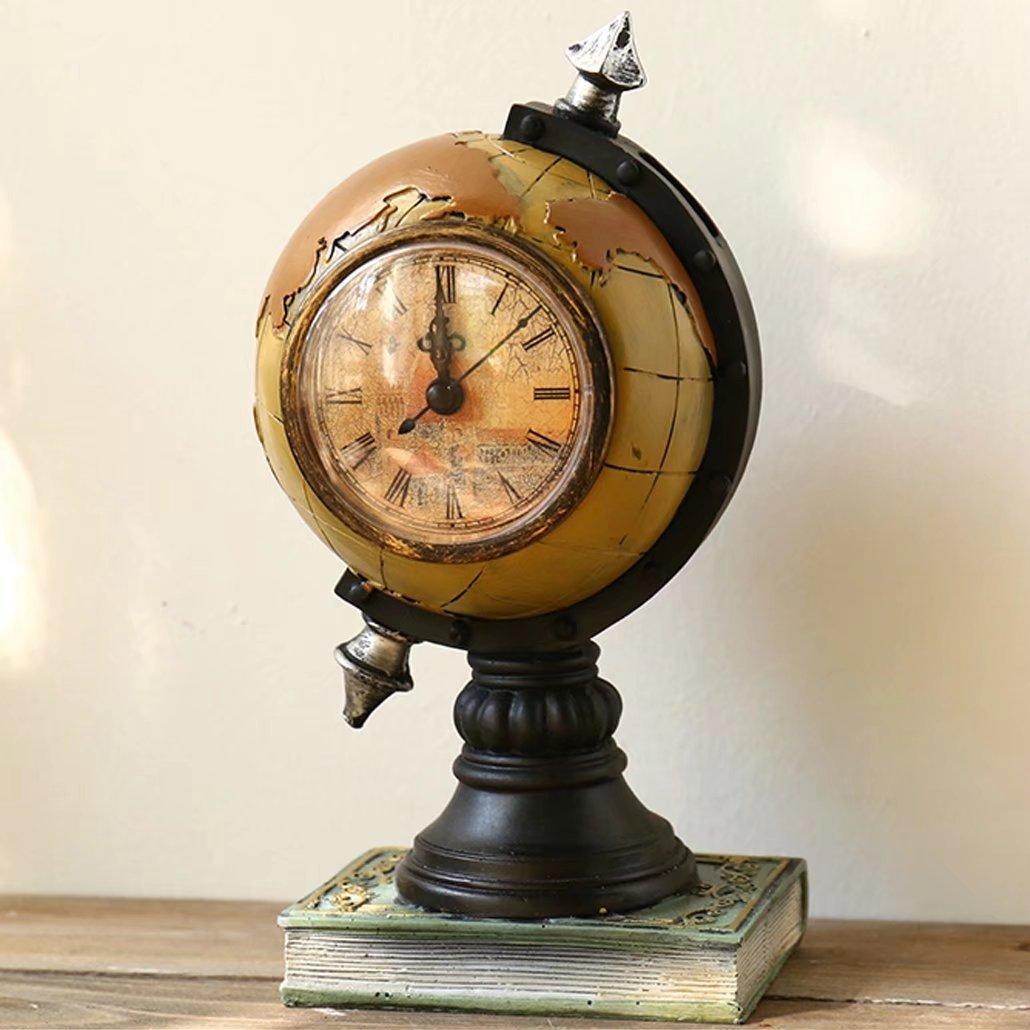 UNUSUAL 置き時計 クロック 地球儀 スタンド オブジェ インテリア 書斎 創意 貯金箱 兼用 部屋を飾り 時計 引越し祝い 誕生日プレゼント 可愛い 装飾品 新築祝い B074WPQHKH B B