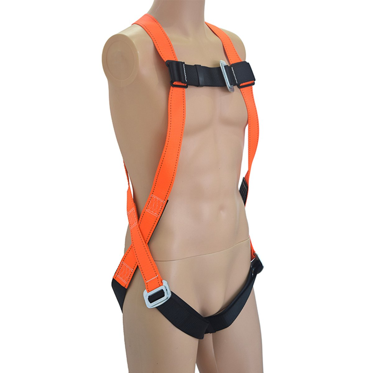 KSEIBI 421024 Full Body Fall Protection Light Weight Safety Harness w D-Ring and Chest Pass Thru Buckles (LIGHT-PRO)