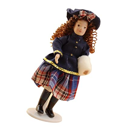 5d7404c9cf6 Image Unavailable. Image not available for. Color  MonkeyJack DOLLHOUSE  DOLLS 1 12TH SCALE VINTAGE PEOPLE PORCELAIN GIRL ...
