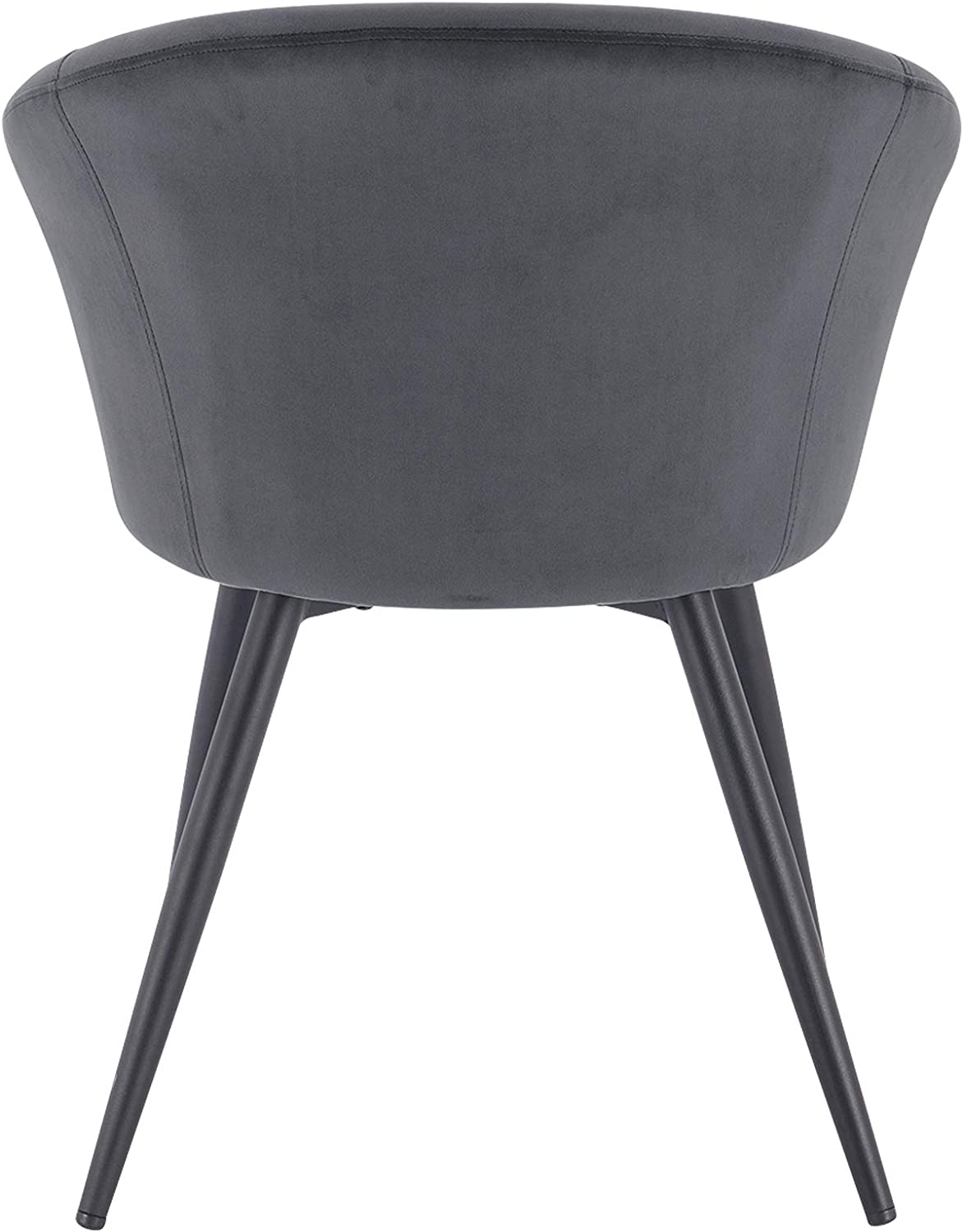 eSituro 1x Dining Chair Kitchen Counter Corner Chair Dark Grey with Solid Metal Legs and Backrest & for Office Lounge Dining Kitchen SDC0234-1 Dark Grey