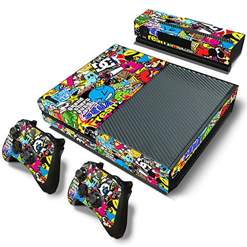 GoldenDeal Xbox One Console and Wireless Controller Skin Set - Collage Hoonigan Design - XboxOne Vinyl