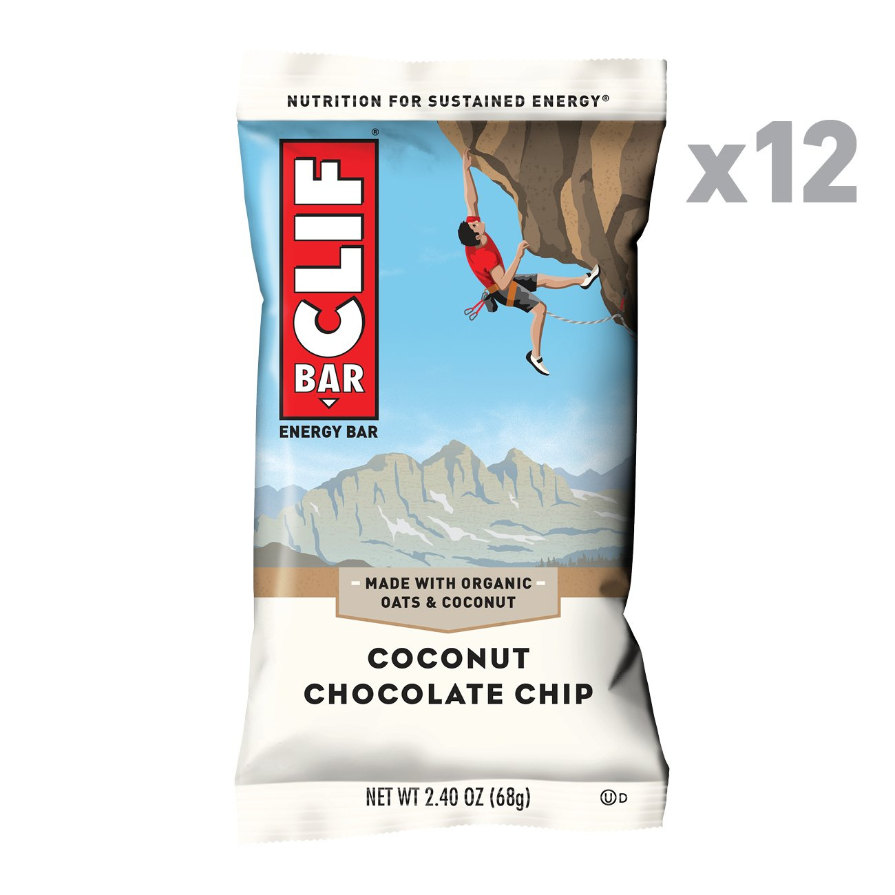 Amazon CLIF BAR Energy Bar Coconut Chocolate Chip 2 4 Ounce Protein Bar 12 Count Health & Personal Care