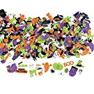 OTC 500 Assorted Halloween Foam Craft Stickers - Self Adhesive Shapes