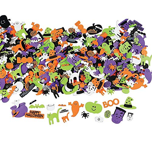 OTC 500 Assorted Halloween Foam Craft Stickers - Self Adhesive Shapes]()