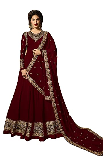 f792e1671 Life RJ Fashion Women s Georgette Embroidered Semi-stitched Salwar Suit- Material (Rj-