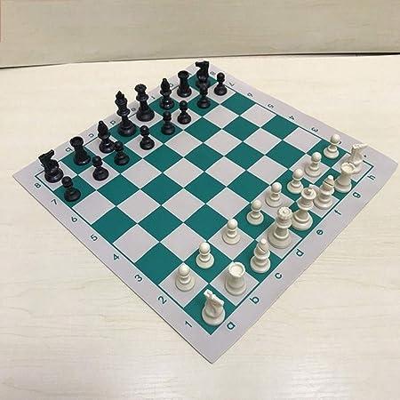 LEZDPP Piezas de Juegos de Mesa Embalado Viaje Juego de ajedrez Juego de ajedrez Ajedrez Backgammon Damas Juguete de Interior del Recorrido al Aire Libre cuadrícula de Juego: Amazon.es: Hogar