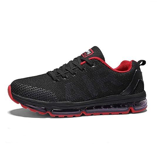 TORISKY Unisex Sportschuhe Herren Damen Laufschuhe Sneakers Turnschuhe Fitness Mesh Air Leichte Schuhe Rot Schwarz Weiß
