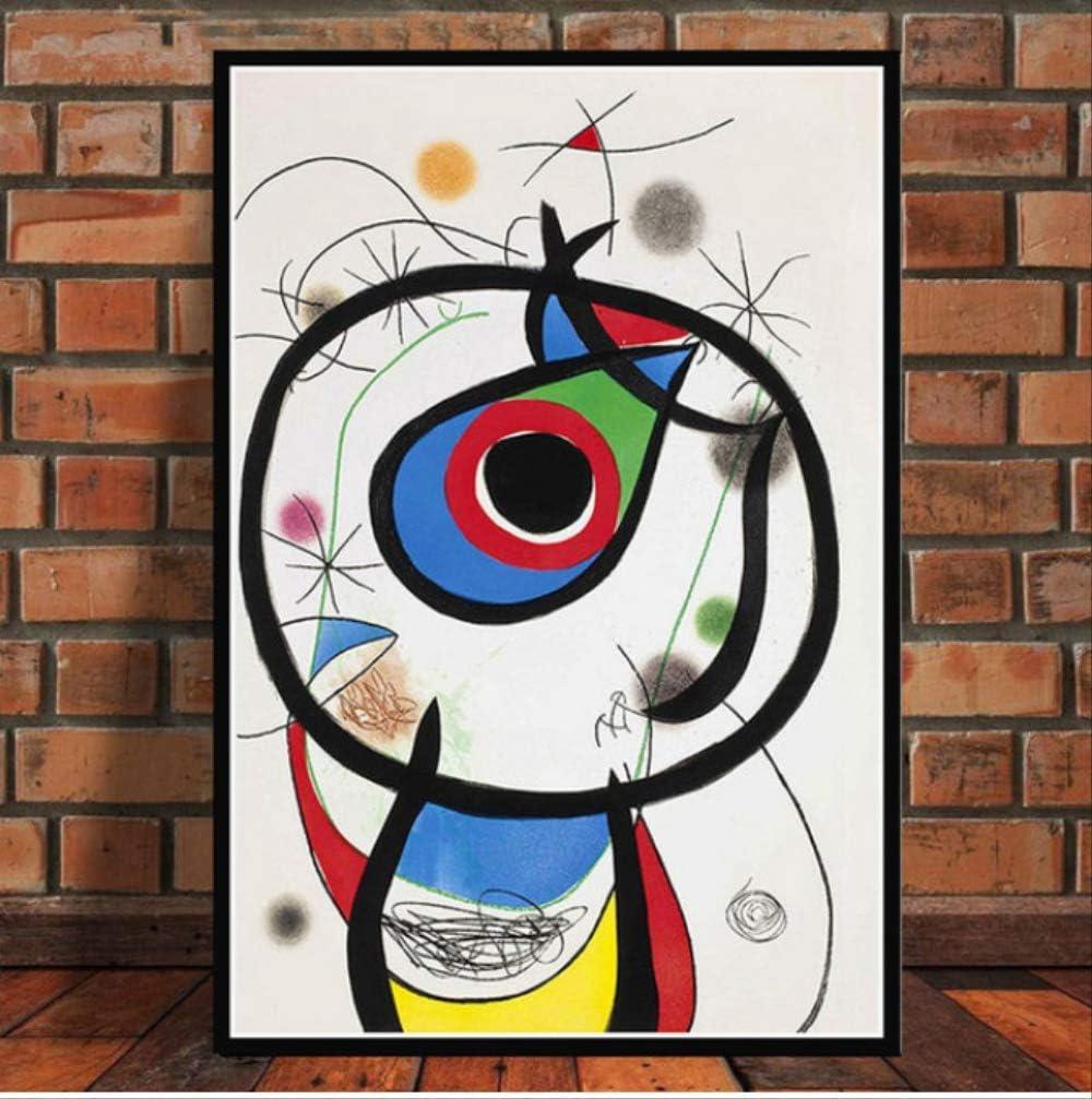NOBRAND Cartel E Impresiones Joan Miró Famosos Modernos Abstractos Pinturas Retro Arte Pared Arte Lienzo Pared Cuadros Decoración del Hogar 40 * 60 Cm Sin Marco