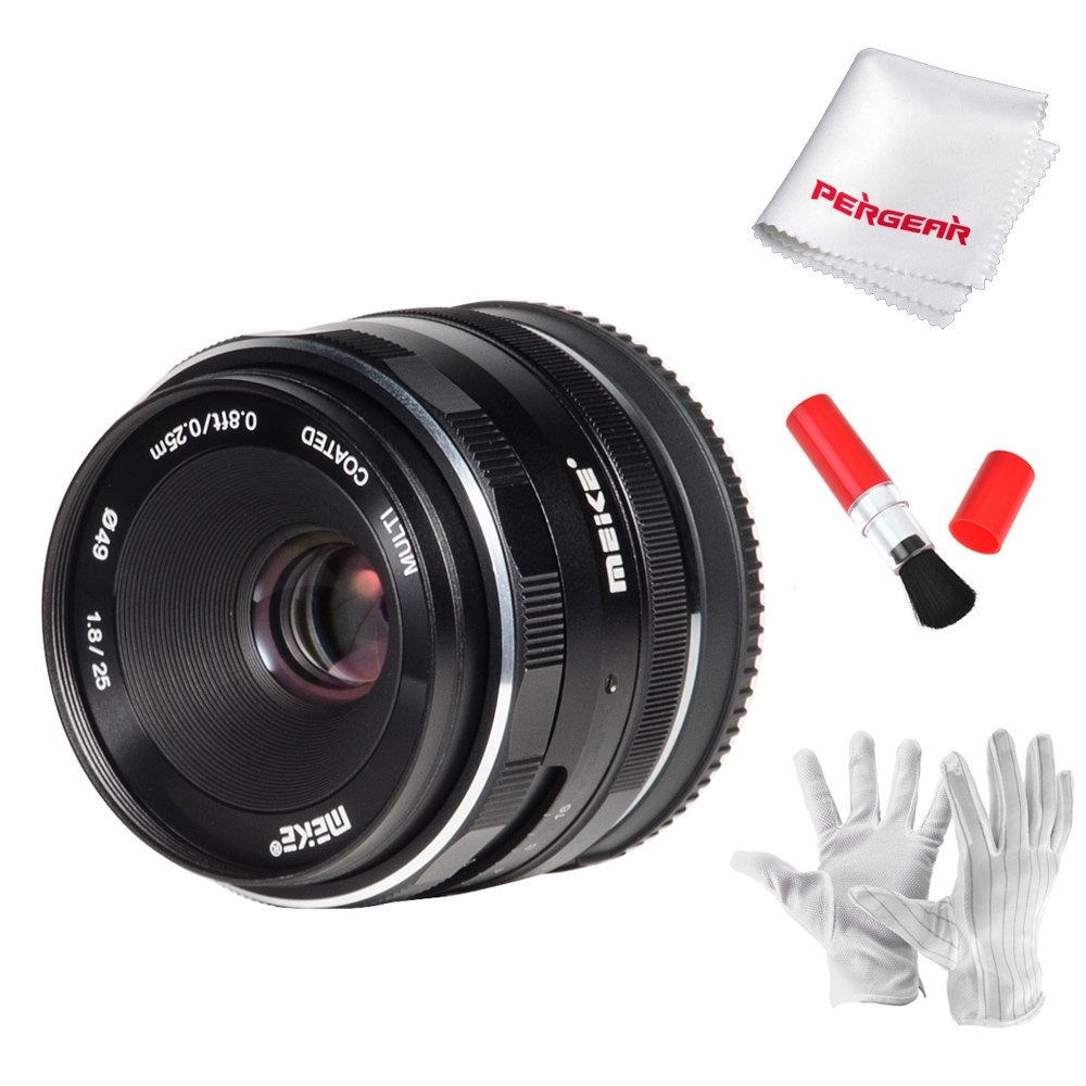 MEIKE 25mm F1.8 Manual Focus Wide Angle Prime Fixed Lens For Sony E-Mount APS-C Frame Cameras