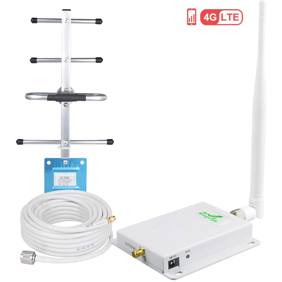 Verizon Cell Phone Signal Booster Mingcoll 4G LTE Cell Signal Booster Repeater 700MHz Band 13 Cell Phone Signal Amplifier Mobile Phone Signal Booster Kit for Home/Office