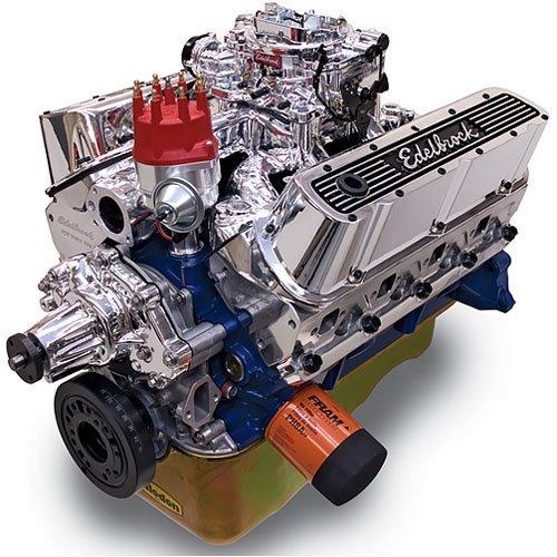 Edelbrock Crate Engine Performer - Edelbrock 45264 Performer RPM Crate Engine Long Block Incl. RPM Air-Gap PN[75214]/Thunder 800/Pro-Billet Dist/Front Sump Oil Pan/Cast Finish 347 Small Block 347 438HP Endurashine Performer RPM Crate Engine