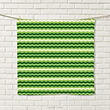 smallbeefly Green Hand Towel Wavy Horizontal Lines in Vibrant Colors Traditional Irish Pattern Quick-Dry Towels Lime Green Dark Green White Size: W 20'' x L 23''