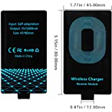 FutureCharger Universal Qi Standard Wireless Charging Receiver Film Module for Micro-usb of All Android Mobile-Narrow-interface Up (Android Type A Receiver)