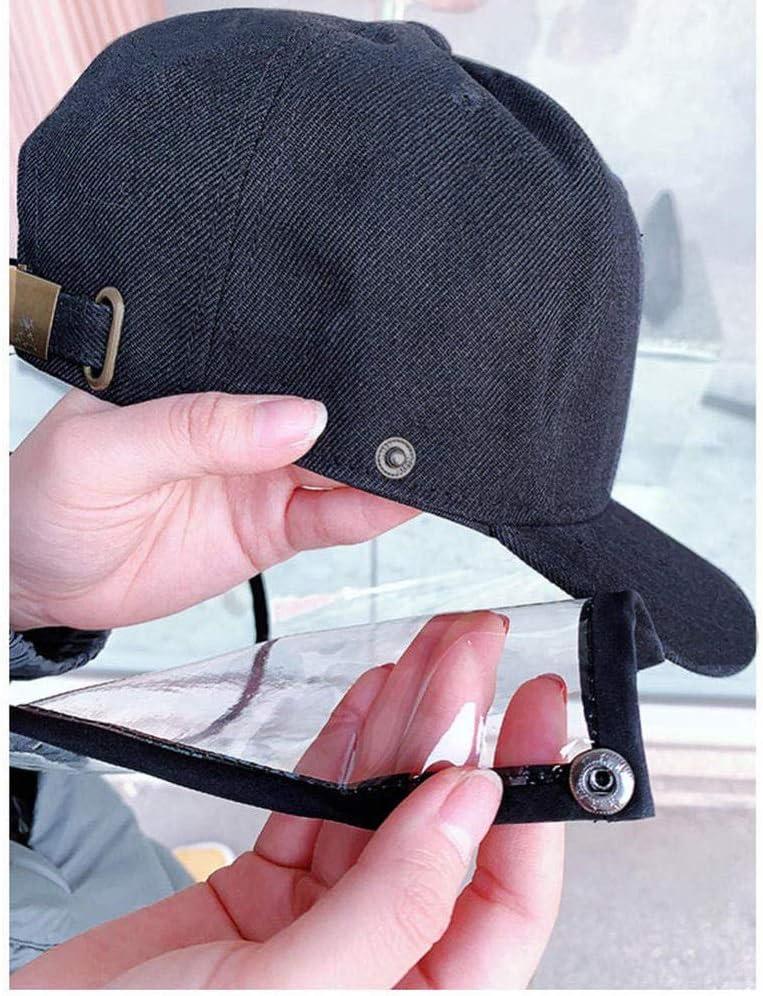 Baseballm/ütze Color : Black Anti-Spucken Schutz Hat Anti-Fog-Gesichts-Abdeckung LYDIANZI Anti-Saliva Schutzkappe mit Abnehmbarer Gesichtsmaske Adjustment Gr/ö/ße