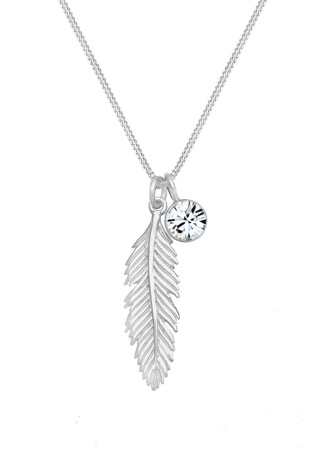 Elli Womens 925 Sterling Silver Xilion Cut Jewellery Necklace