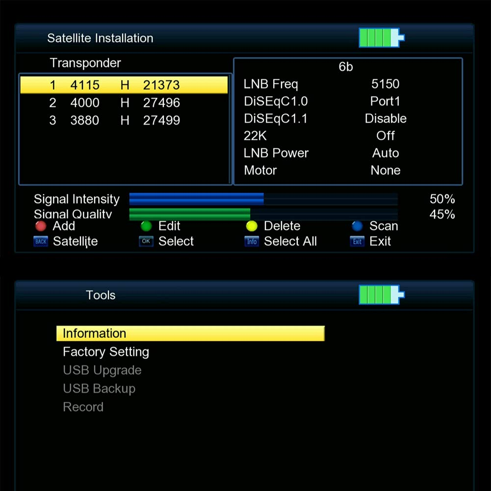 Lazmin Satellite Finder Satellite Signal Meter, Digital V8 Satellite Signal Finder HD 1080P DVB-S Signal Strength Meter Detector, 6000 Channels TV and Radio programmable (Black) (110-240V) by Lazmin (Image #3)