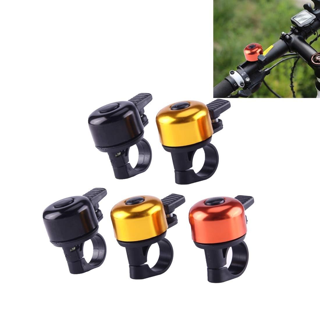 Easy Go Shopping Anillo de Timbre de Bicicleta de aleación de Aluminio Mini, 5PCS Entrega de Color al Azar Bicycle Accessories