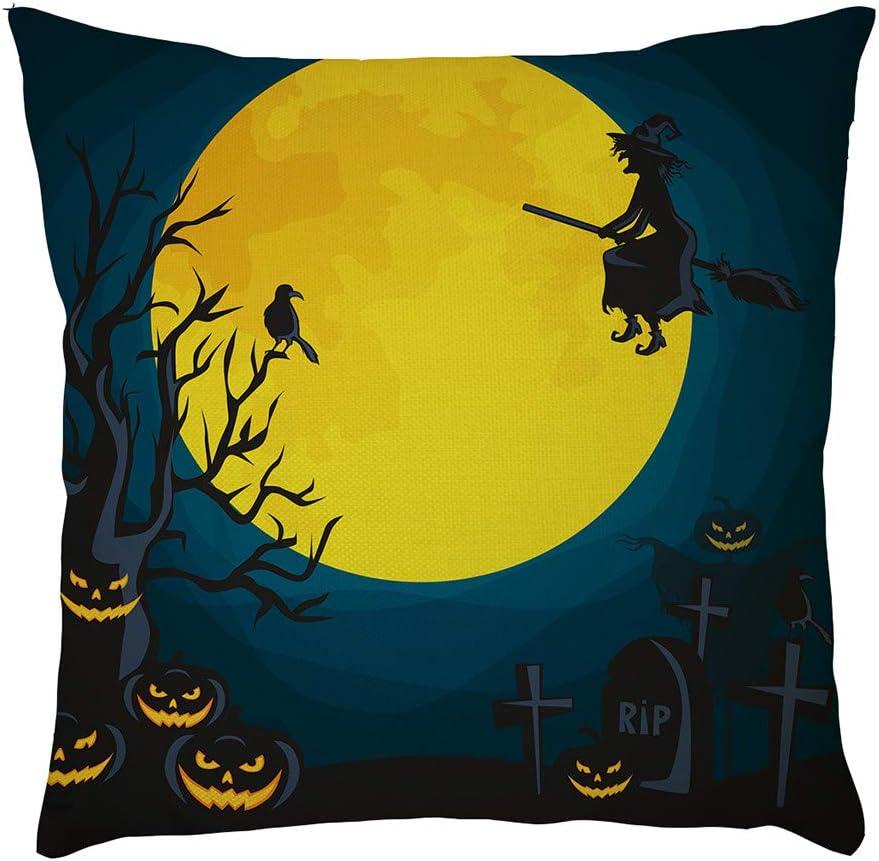 YWLINK DecoracióN De Halloween Funda De Almohada Duradero Lino ...