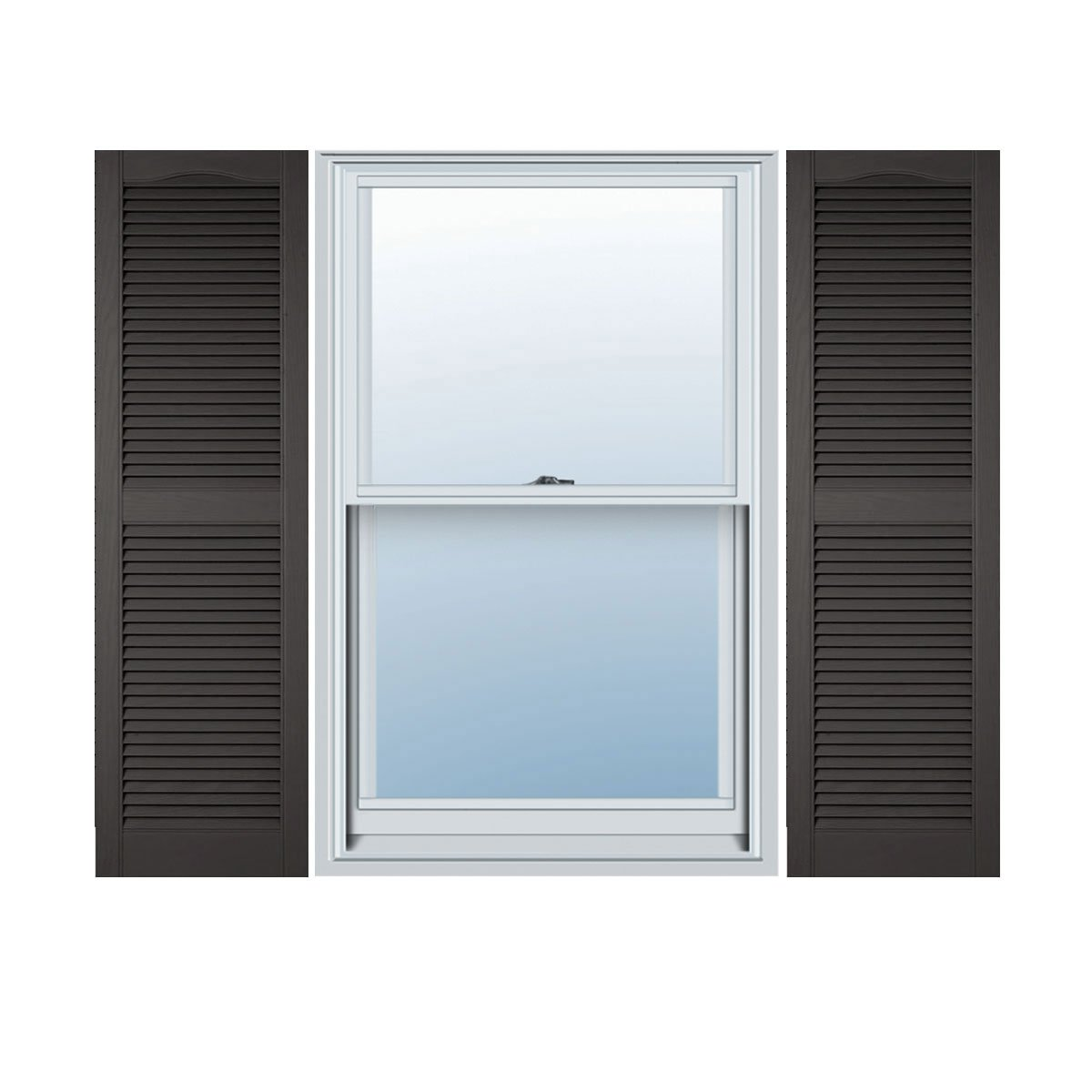 018 14.5W x 52H Builders Edge  Shutters Tuxedo Grey Per Pair