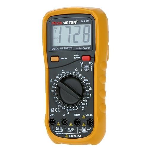 62 opinioni per HYELEC MY60 multimetro digitale AC / DC Tensione Corrente Resistance Tester