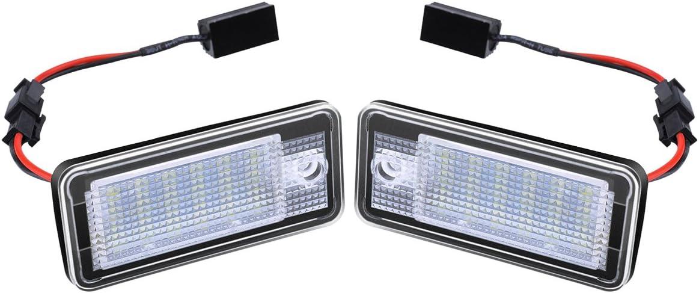 ambother clairage 2x PHIL Trade clairage de plaque minralogique LED Plaque d/'Immatriculation lumire plaque d/'immatriculation pour A38P?A64F?Q7