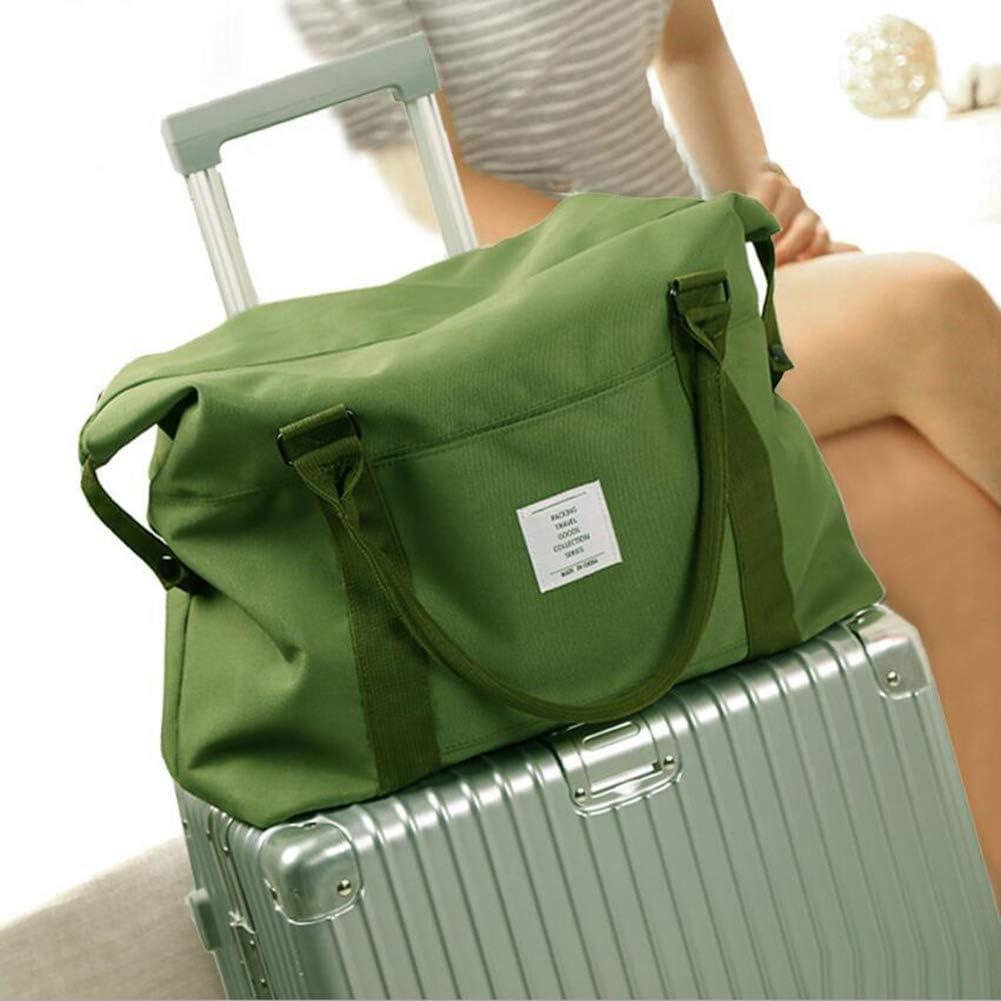 Belsmi Travel Duffle Bag Waterproof Foldable Lightweight Storage Carry Luggage Gym Sports Tote Bag Black