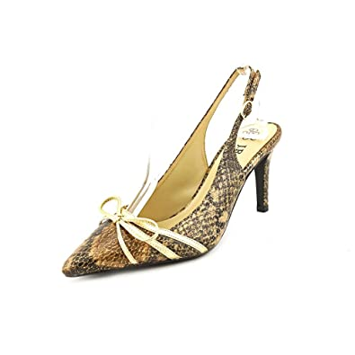 J.Renee Women's Delray Pump Black/Brown Metallic Size 5.5