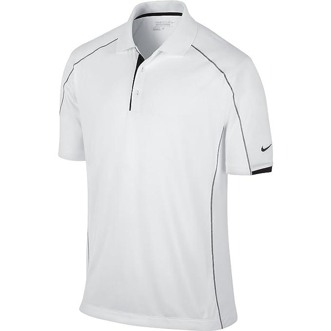 Nike Golf Men's Golf Tech Core Color Block Polo WHITEBLACKBLACK 2XL