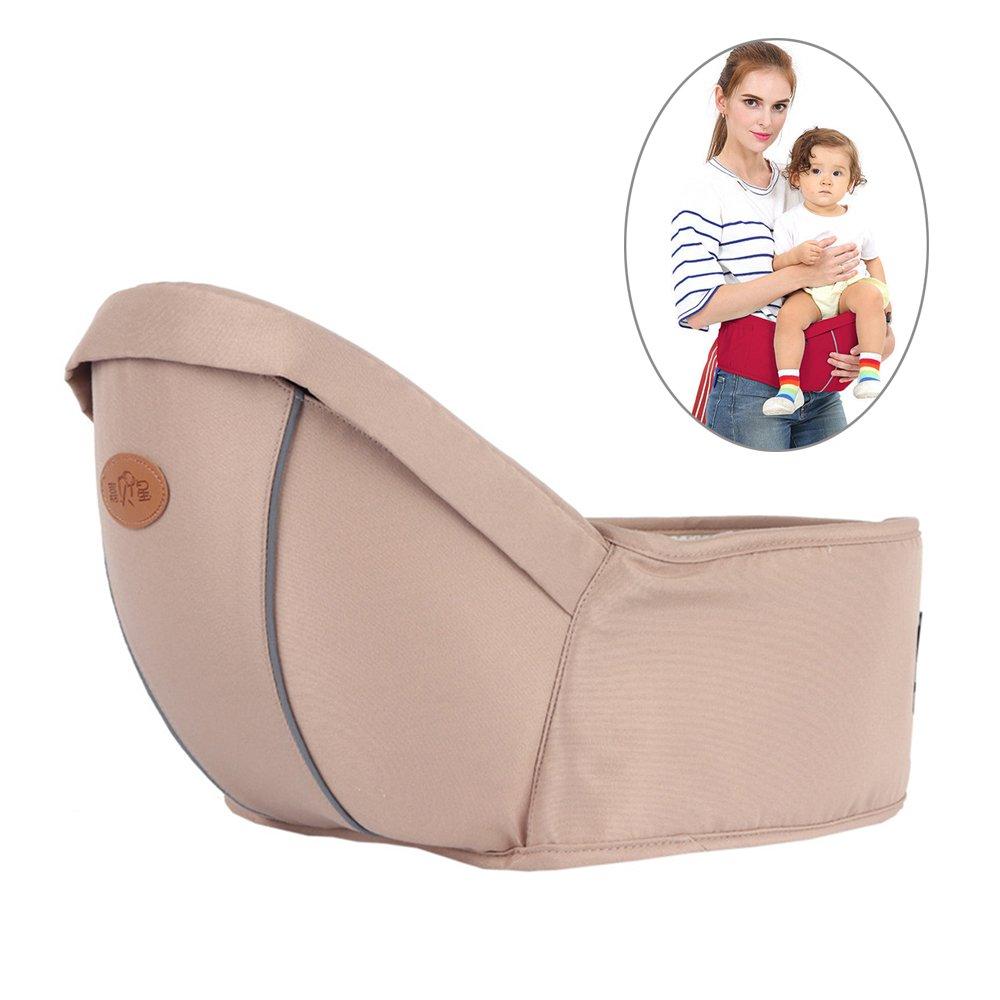 Baby Hipseat Taille Hocker,Baby und Kindertrage, super vielseitig, Bauch-, Hüft- und Rückentrage DiiZii