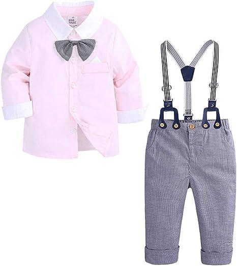 AEPEDC Camisa a Cuadros de Manga Larga y Polainas para niño Traje de Caballero Traje de Caballero para bebé niño: Amazon.es: Deportes y aire libre