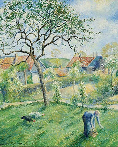 Berkin Arts Camille Pissarro Giclee Canvas Print Paintings Poster Reproduction(Apple Trees in Bloom) #XFB