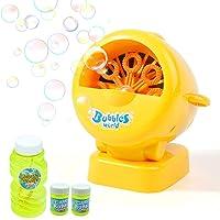 Deals on Danvren Automatic Bubble Blower Maker with 12oz Refill Solution
