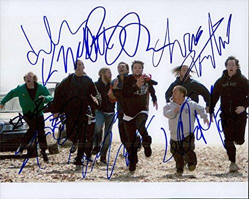 Signed Jackass 8x10 Photo By Steve-O, Jason Acuna, Bam Margera, Chris Pontius, Ryan Dunn, Wee-man, Ehren Mcghehey and Dave Englund autographed